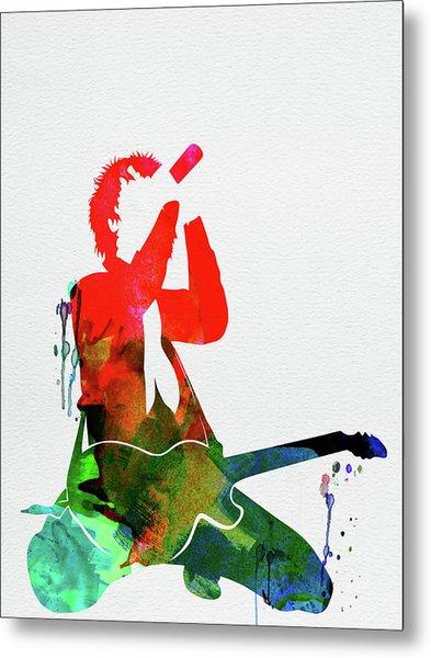 Green Day Watercolor Metal Print