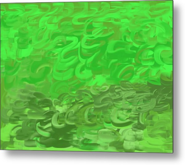 Green Expansions Metal Print