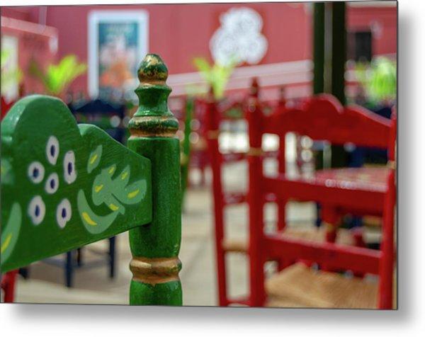Green Fair Chair Metal Print