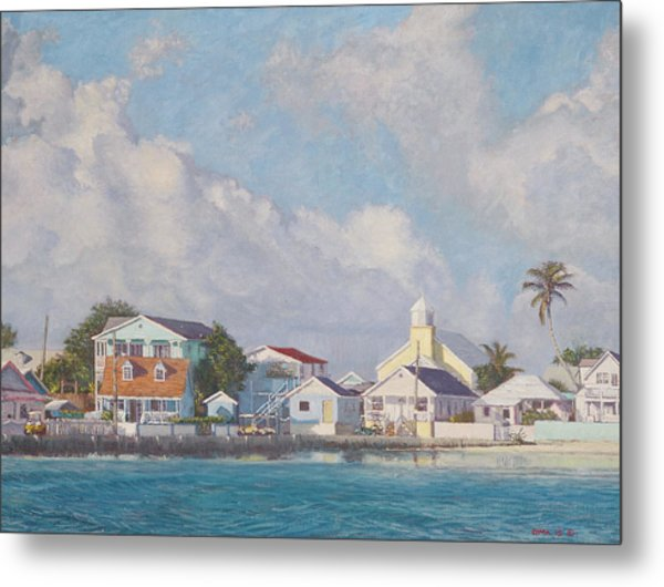 Green Turtle Cay Water Front Metal Print