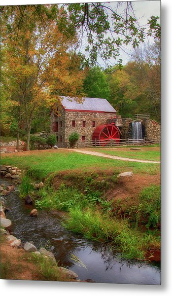 Metal Print featuring the photograph Grist Mill In Fall by Joann Vitali