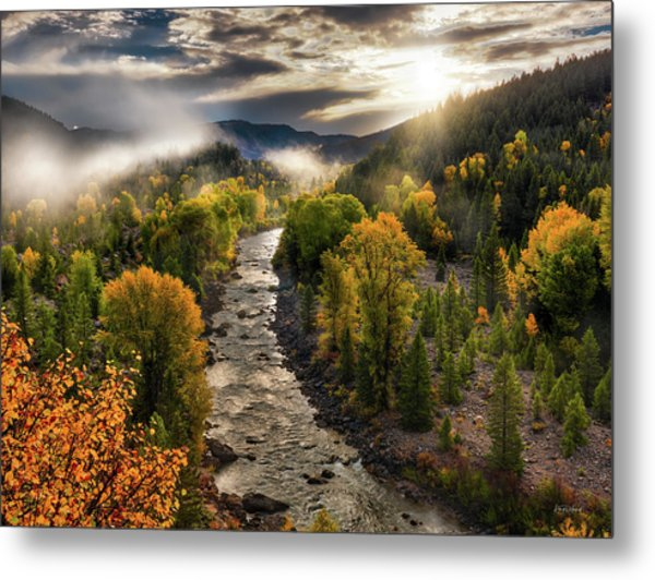 Metal Print featuring the photograph Gros Ventre River Light by Leland D Howard