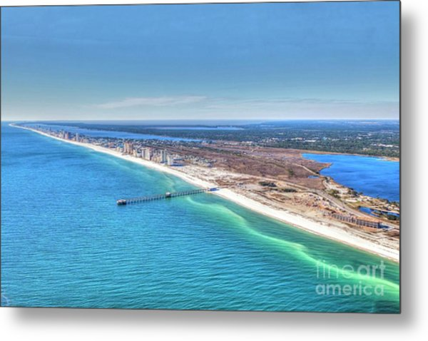 Gsp Pier And Beach Metal Print