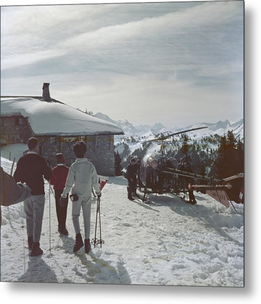 Gstaad Metal Print by Slim Aarons