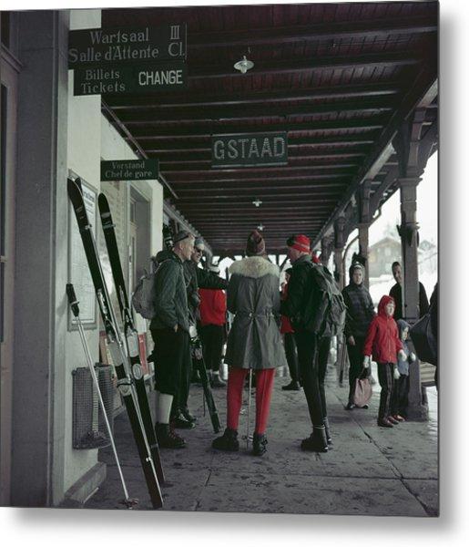 Gstaad Station Metal Print by Slim Aarons