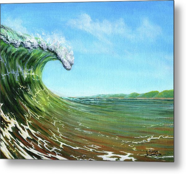 Gulf Of Mexico Surf Metal Print