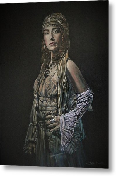 Gypsy Portrait Metal Print