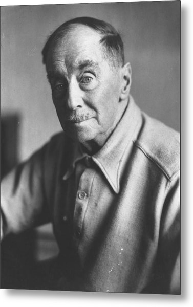H G Wells Metal Print by Keystone