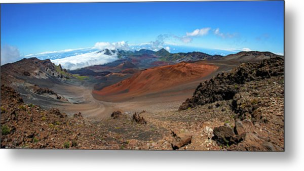 Haleakala Crater Panoramic Metal Print