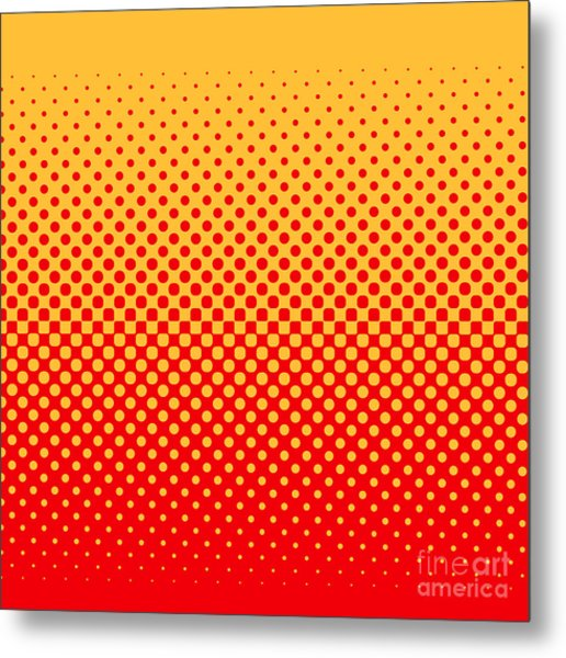 Halftone Vector Illustration Metal Print