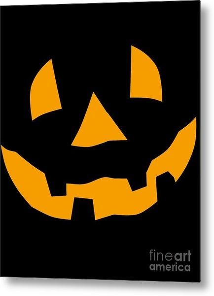 Halloween Pumpkin Tee Shirt Metal Print