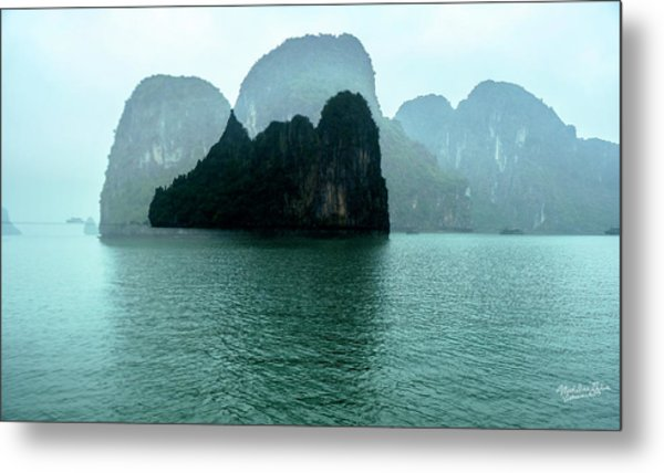 Halong Bay Mountains, Vietnam Metal Print