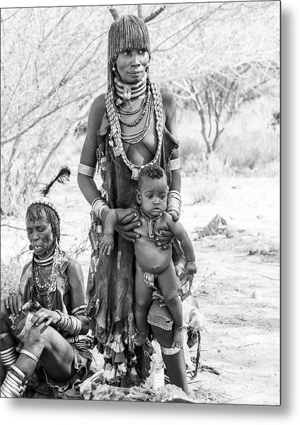 Hammer Women And Child Metal Print