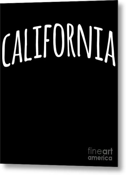Hand California Metal Print