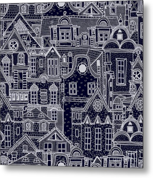 Hand-drawn Seamless Pattern With Old Metal Print