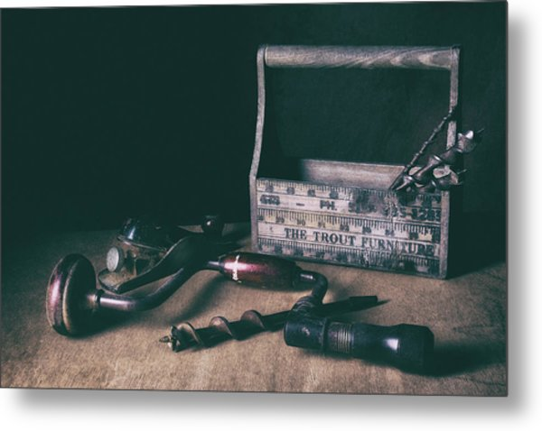 Hand Tools - Brace And Bits Metal Print