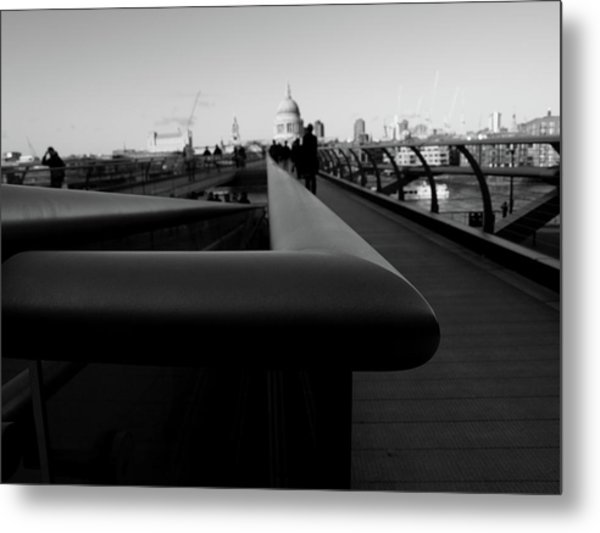 Metal Print featuring the photograph Handrail by Edward Lee
