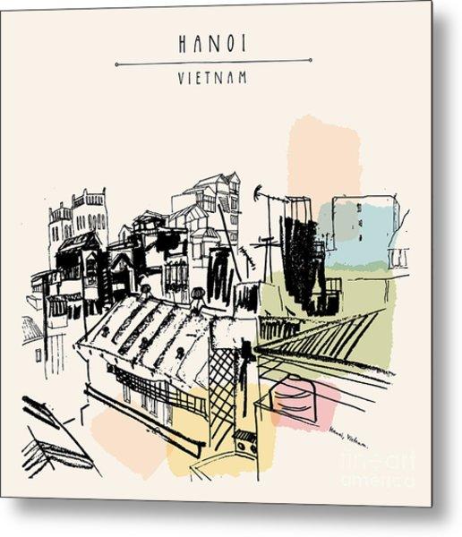 Hanoi, Capital Of Vietnam, Southeast Metal Print