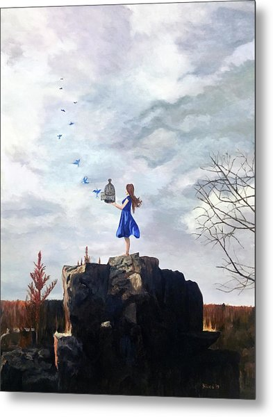 Happiness Released Metal Print