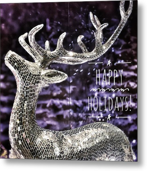 Happy Holiday Sparkle Metal Print