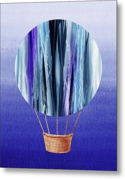 Happy Hot Air Balloon Watercolor Xx Metal Print