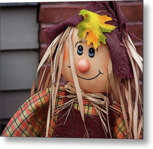 Metal Print featuring the photograph Happy Thanksgiving Doll by Tatiana Travelways