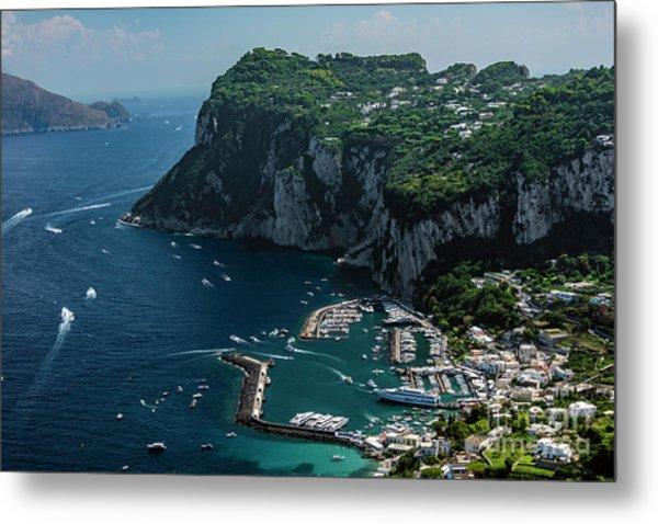 Harbor Of Capri Metal Print