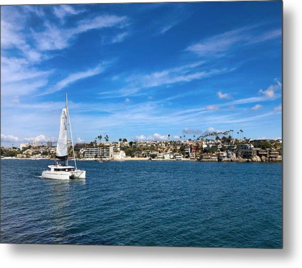 Harbor Sailing Metal Print