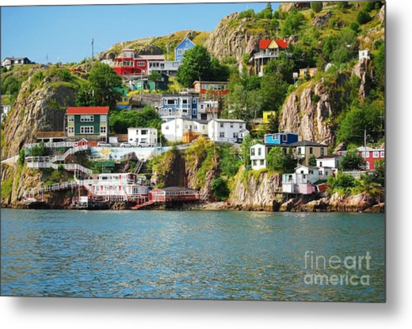 Harbour Front Village In St. Johns Metal Print