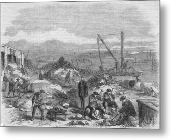 Hard Labour Metal Print by Hulton Archive