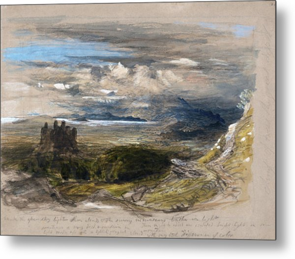 Harlech Castle - Digital Remastered Edition Metal Print
