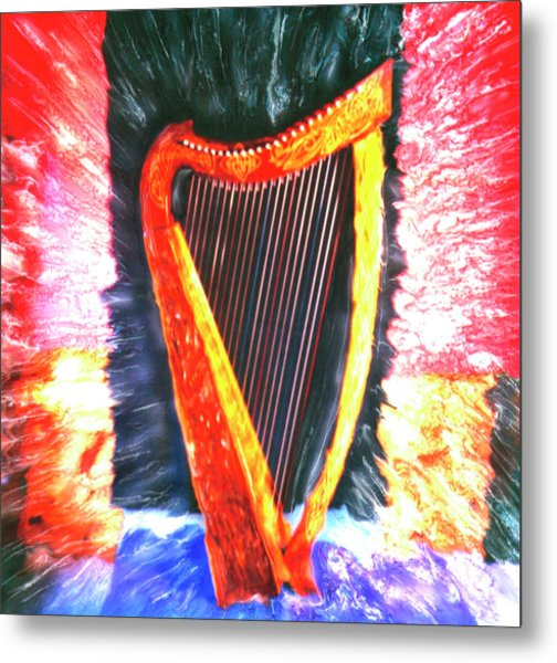 Harp Metal Print by Claire Rydell