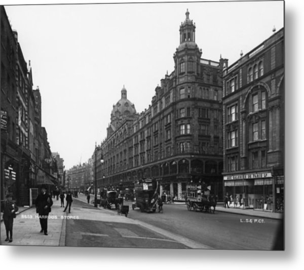 Harrods Department Store Metal Print by London Stereoscopic Company
