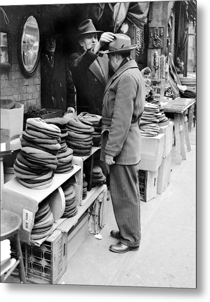 Harry Kregman, Owner Of Hats & Caps, At Metal Print by New York Daily News Archive