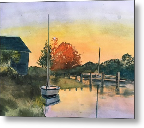 Harthaven Harbor, Mv Metal Print