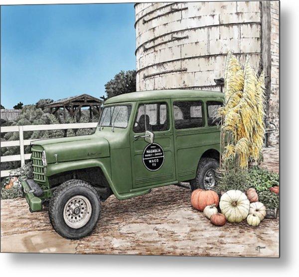 Harvest At Magnolia Metal Print