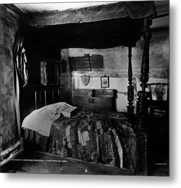 Hathaways Bed Metal Print by London Stereoscopic Company