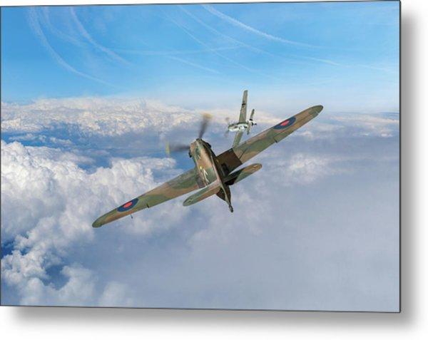 Metal Print featuring the photograph Hawker Hurricane Deflection Shot by Gary Eason
