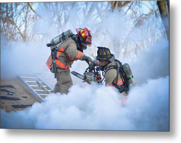 Hazardous Duty Metal Print