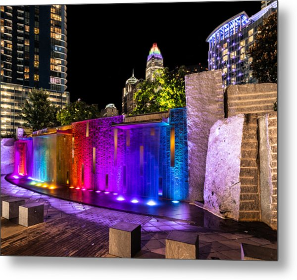 Hdr Rainbow Fountain Metal Print by Christine Buckley