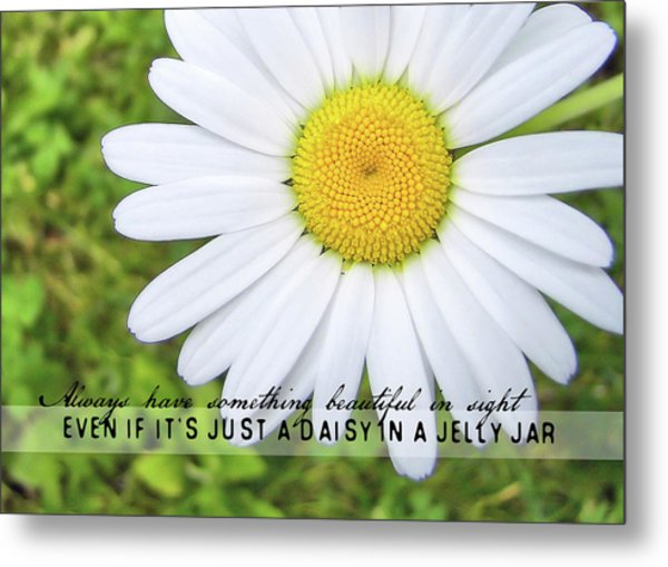 He Loves Me Quote Metal Print