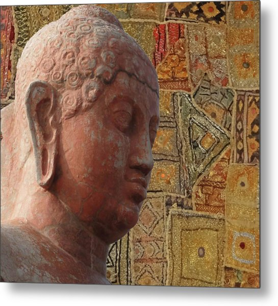 Head Of Buddha,  Metal Print