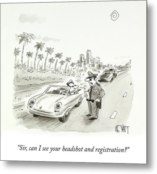 Headshot And Registration Metal Print