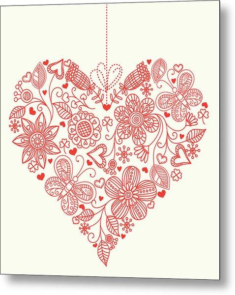Heart Background Metal Print by Pworld