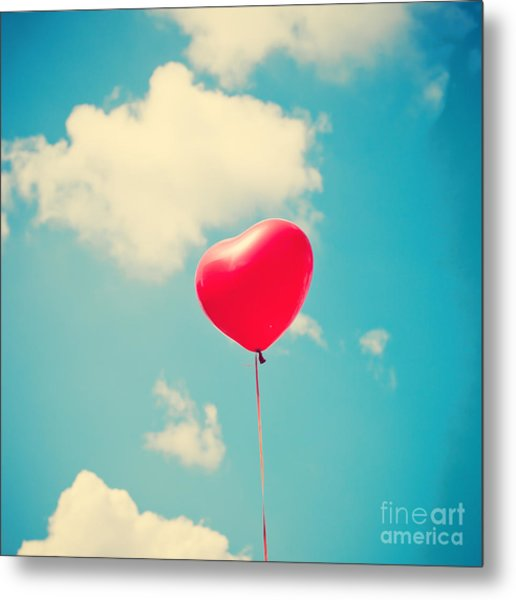 Heart Balloon Metal Print by Andrekart Photography