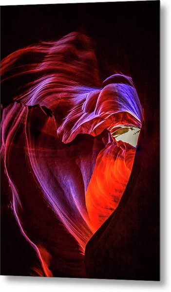 Heart Of Antelope Canyon Metal Print
