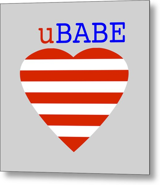 Hearts And Stripes Metal Print
