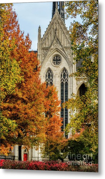 Heinz Chapel Autumn Trees Metal Print