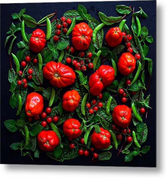 Heirloom Tomatoes And Peas Metal Print