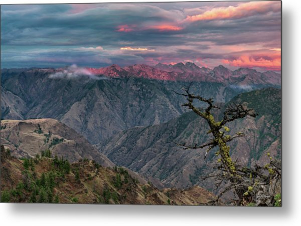 Hells Canyon Sunset 2 Metal Print by Leland D Howard